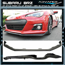 Fit For 13-16 Subaru BRZ STI Style Front PU Bumper Lip + BRZ OE Style Rear Lip