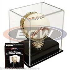 1 Gold Glove Baseball Holder UV Safe Display Case BCW