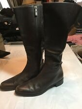 "Lord & Taylor ""Cantor"" Brown Leather Boots womans 7 M"