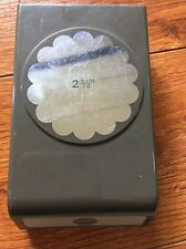 Stampin Up 2 3/8 Circle Scallop Paper Punch Used