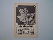 advertising Pubblicità 1972 BAMBOLA GIANNI E CARLINA EFFE FRANCA