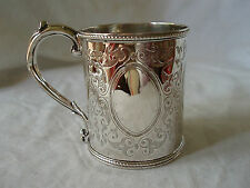 CHRISTENING MUG STERLING SILVER LONDON 1859