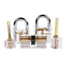 5 pcs Practice Lock Set Crystal Pin Tumbler keyed Padlock Tools for Locksmith