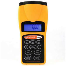 LCD Ultrasonic Laser Meter Pointer + Distance Measurer Range 60FT 18m