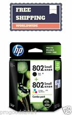 HP 802 Genuine Inkjet Printer Cartridge Black Tri Color Combo Deskjet Brand New