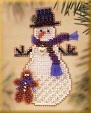 Mill Hill Gingerman Snow Charmer Beaded Christmas Ornament Cross Stitch Kit 2003