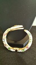 Kenneth Jay Lane White Enamel and Crystal Snake Bangle