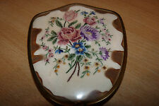 VINTAGE DRESSING MIRROR - EMBROIDERED FLOWERS LOVELY ITEM LOOK