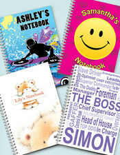 Personalised A5 Notebooks lined or blank pages FREE P&P by D & L Designs Ltd