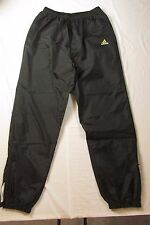Adidas Mens Warmup Track Wind Pants Zippered Hems Black, Size L L@@K NICE