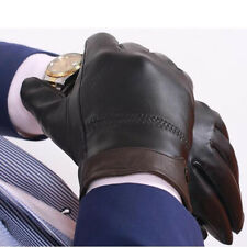 Men Sheepskin Genuine Leather Gloves All-match Thermal Sheepskin Gloves