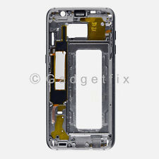 Gold Samsung Galaxy S7 Edge G935V G935P Middle Housing Frame Bezel Mid Chassis