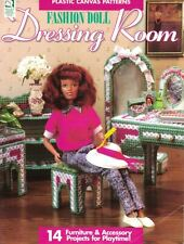 HOWB Fashion Doll DRESSING ROOM in Plastic Canvas Barbie Scaled Furniture