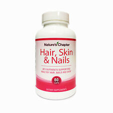 Hair, Skin & Nails Vitamins Biotin 5000mcg and Folic Acid 400mg - 60 Capsules
