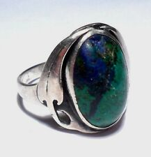 VINTAGE SIGNED MCNEAL SOUTHWESTERN AZURITE STERLING SILVER 925 RING SIZE 8.75