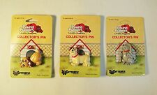 Vintage 1986 Set of 3  Pound Puppies Collector's Pin - Hong Kong