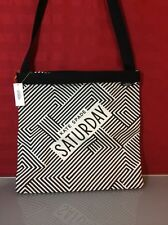 KATE SPADE SATURDAY THREE WAY TOTE Black & White Zigzag 4IRU0009