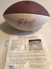 Brett Favre Autographed Full Size New York Jets Logo Football JSA LOA