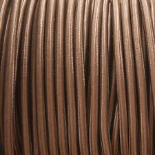 Marrón Ronda Trenzado Tejido Cable 3-core 0.5 mm para todas las luminarias Uso