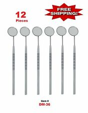 12 PC DENTAL MOUTH MIRROR #5 w/HANDLE DENTAL INSTRUMENT