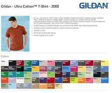 50 Blank Gildan Ultra Cotton T-Shirt Wholesale Bulk Lot ok to mix S-XL & Colors