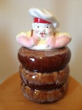 DONUT CHEF COOKIE JAR AMERICAN BISQUE? Excellent condition