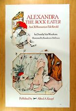 ALEXANDRA THE ROCK-EATER Rumanian Tale Rosekrans Hoffman Ad Poster 1977 Dragon