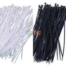 "Nuovo 100pcs 8"" 3x200mm Nylon Plastica Fascette Zip Wire Wrap Strap"