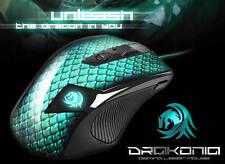 Sharkoon Drakonia Gaming Maus 5000 DPI + Gewichte Lasermaus USB - 3.81 m/s ! NEU