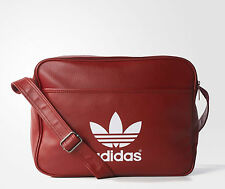 Adidas Originals Classic Airliner Shoulder Messenger Bag Rust Red -- AB2710