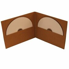 10 CD DVD Double Card board  Wallet 100% Recycled Brown Blank NEW HQ AAA