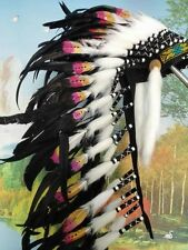 28inch indian feather headdress indian warbonnet american  halloween costume