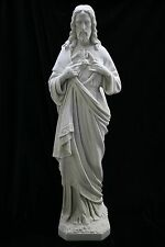 X-Large Sacred Heart of Jesus Catholic Statue Sculpture Outdoor Made in Italy