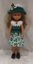 "LES CHERIES Corolle 13"" Doll Clothes #28 Top, Hat & Skirt Set   14"" Betsy McCall"