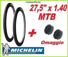 2 x Neumáticos 27,5 1.40 SLICK MICHELIN bici Mountain Bike + 2 CÁMARA DE AIRE