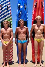 Shirtless Male Blond Surfer Dudes In Speedos Beach Boy Hunks PHOTO 4X6 C204