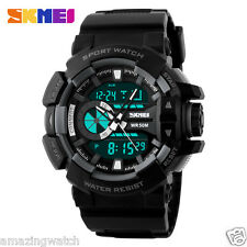 Skmei Original Imported 1117  Black Dual Time Wrist Watch for Men With Warranty