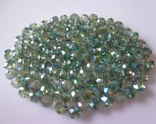 Wholesale Exquisite Rondelles Crystal Beads Jewelry Making 3*4mm 100Pcs Green AB