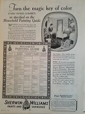 1926 Sherwin-Williams Paint Varnish Painting Guide Turn Magic Key of Color Ad