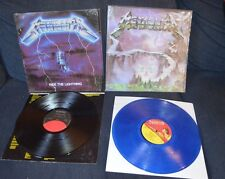 2 Metallica Record Albums Creeping Death Blue Vinyl - Ride The Lightning