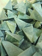 Green Triangle Tumbling media rock polishing vibrating deburring 5 lbs