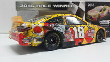 RACE DAMAGED KYLE BUSCH 2016 #18 KANSAS M&M's RED NOSE RACE WIN 1:24 - 2017