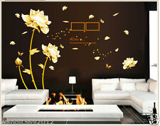 Flower DIY Art Wall Decal Decor Room Stickers Removable Paper Mural Home