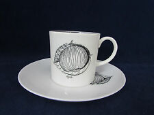 SET OF FOUR - Wedgwood Bone China BLACK FRUIT Demitasse Cup & Saucer Sets