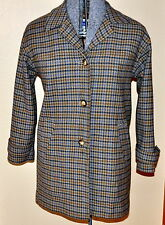 Vintage Womens PENDLETON Houndstooth ~ Wool Blend ~Lined Coat SM Size  6