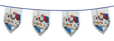 8M KNIGHTS AND DRAGONS MEDIEVAL DECORATION PARTYWARE SWORD SHEILD FLAG BUNTING