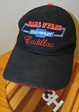 """KARL TYLER CHEVROLET CADILLAC"" HAT. BLACK WITH EMBROIDERED GRAPHICS. VELCRO ADJ"