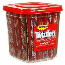 180 STRAWBERRY TWIZZLERS LICORICE Wrapped twists Bulk Vending Candy NEW