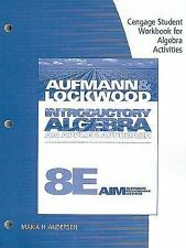 Student Workbook for Introductory Algebra, 8th