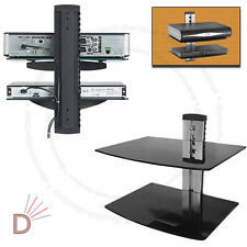 Vidrio Tv Lcd Led Wall Mount Bracket 2 Estantes Estante Para Dvd Sky Box